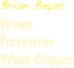 Brian Beyer Drums  Percussion Wood-Chipper
